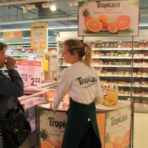Instore demonstratie Tropicana